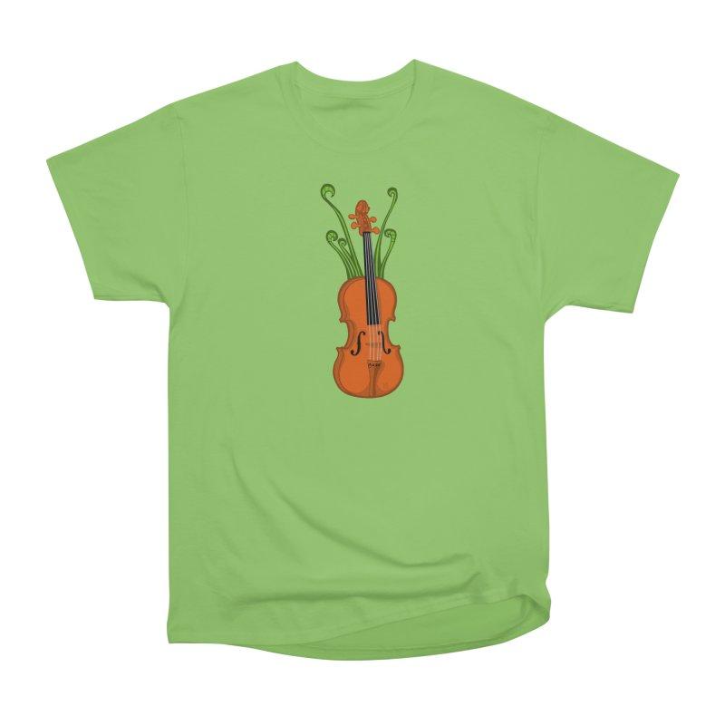 Fiddleheads Men's Heavyweight T-Shirt by CHRIS VIG'S SHIRTSTUFFS