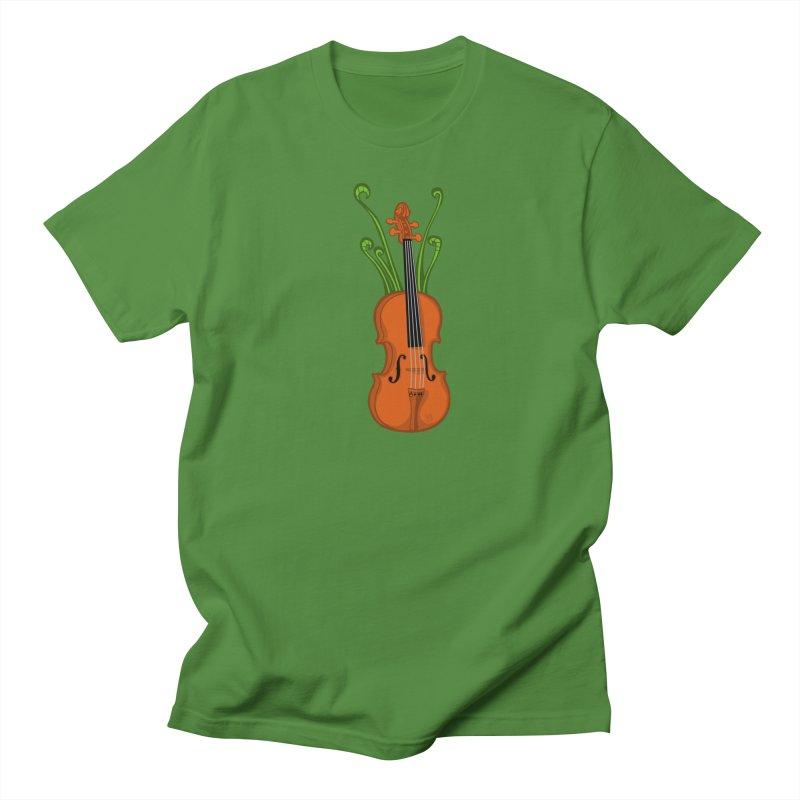 Fiddleheads Women's Regular Unisex T-Shirt by CHRIS VIG'S SHIRTSTUFFS