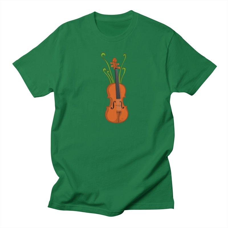 Fiddleheads Men's Regular T-Shirt by CHRIS VIG'S SHIRTSTUFFS
