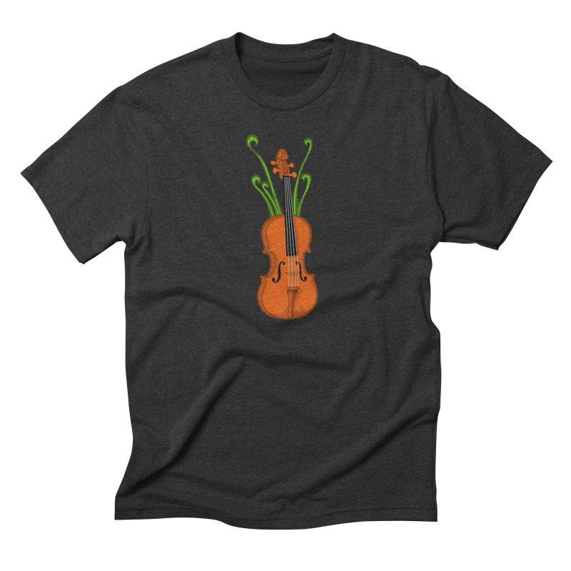 Fiddleheads Men's Triblend T-Shirt by CHRIS VIG'S SHIRTSTUFFS