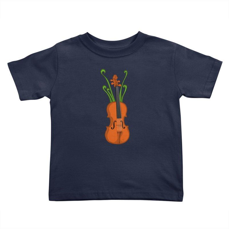 Fiddleheads Kids Toddler T-Shirt by CHRIS VIG'S SHIRTSTUFFS
