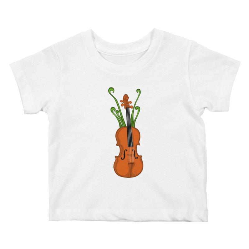 Fiddleheads Kids Baby T-Shirt by CHRIS VIG'S SHIRTSTUFFS