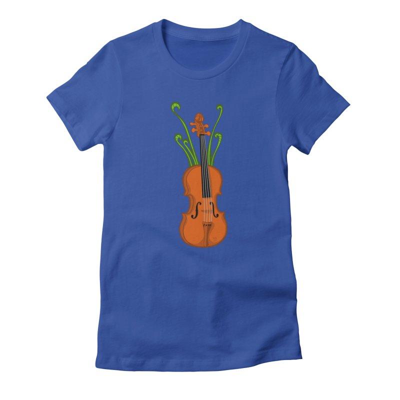 Fiddleheads Women's Fitted T-Shirt by CHRIS VIG'S SHIRTSTUFFS