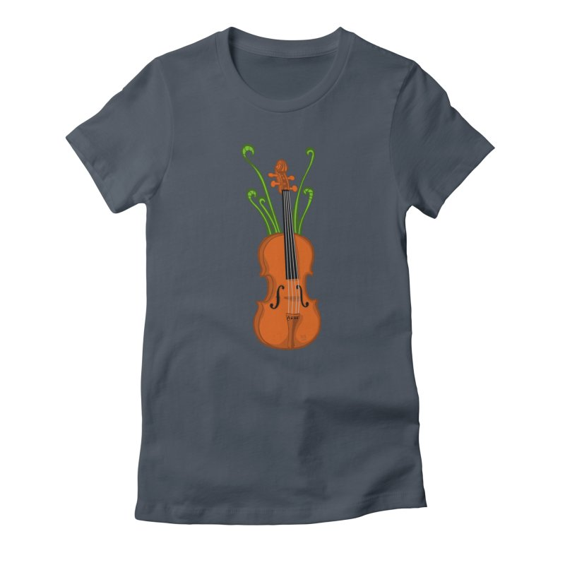 Fiddleheads Women's T-Shirt by CHRIS VIG'S SHIRTSTUFFS