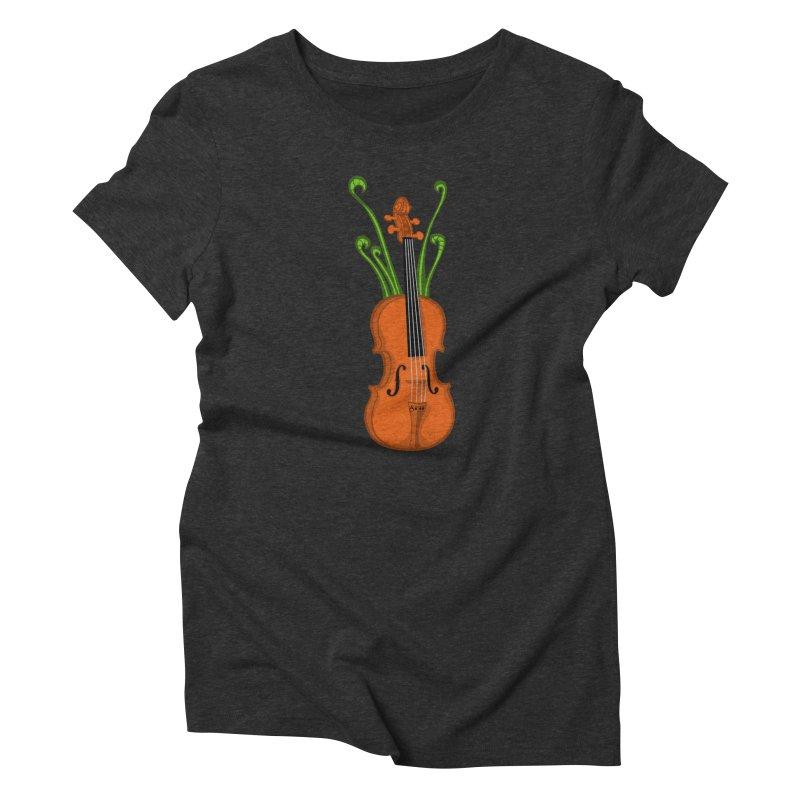 Fiddleheads Women's Triblend T-Shirt by CHRIS VIG'S SHIRTSTUFFS