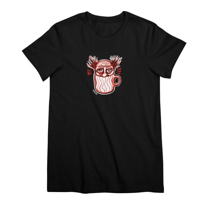 COFFEE Women's Premium T-Shirt by CHRIS VIG'S SHIRTSTUFFS
