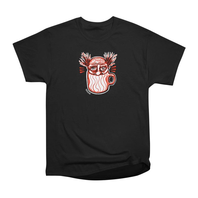 COFFEE Men's Heavyweight T-Shirt by CHRIS VIG'S SHIRTSTUFFS