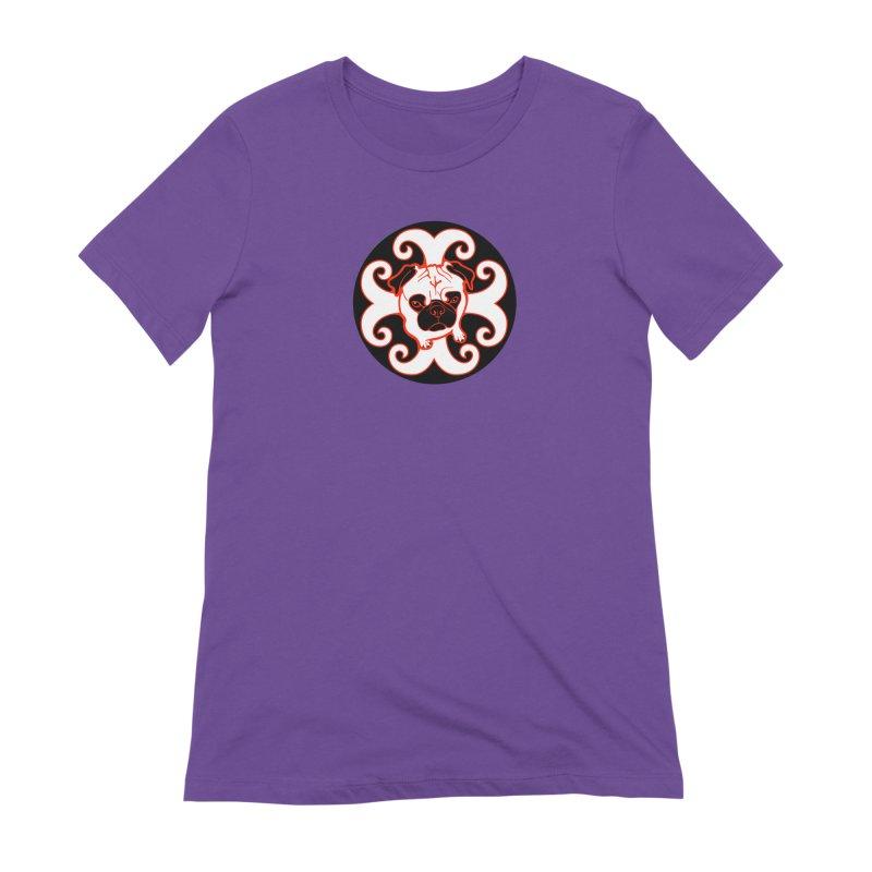 Sunshine Pug Women's Extra Soft T-Shirt by CHRIS VIG'S SHIRTSTUFFS