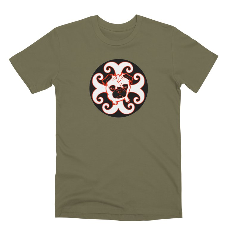 Sunshine Pug Men's Premium T-Shirt by CHRIS VIG'S SHIRTSTUFFS