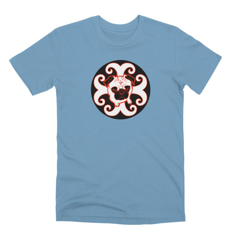 Sunshine Pug Men's Premium T-Shirt by CHRIS VIG'S SHIRTSTUFFS