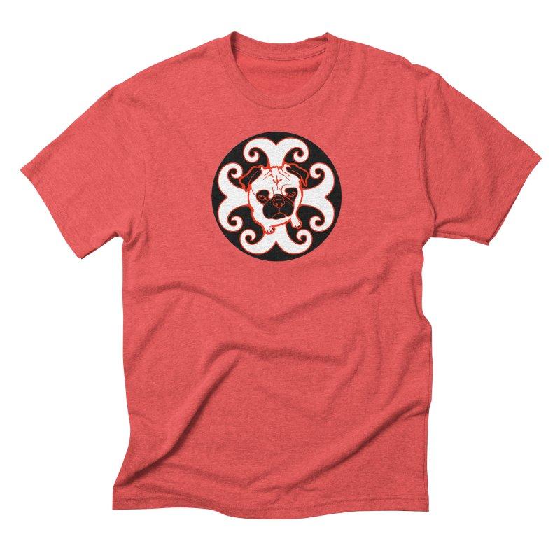 Sunshine Pug Men's Triblend T-Shirt by CHRIS VIG'S SHIRTSTUFFS