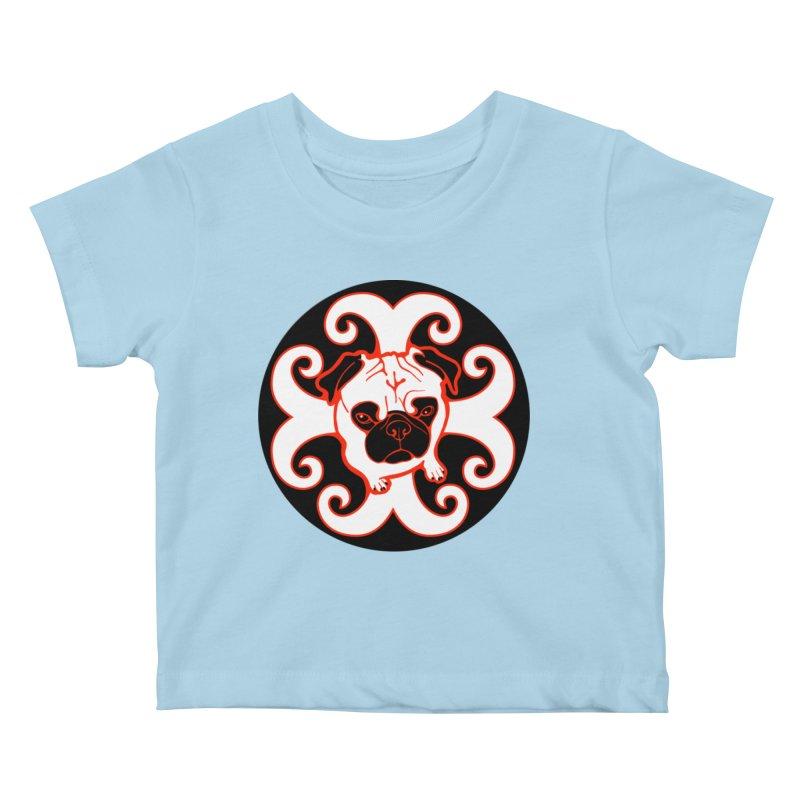 Sunshine Pug Kids Baby T-Shirt by CHRIS VIG'S SHIRTSTUFFS