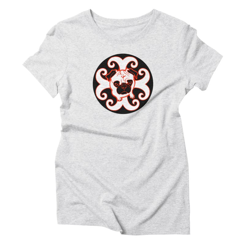 Sunshine Pug Women's Triblend T-Shirt by CHRIS VIG'S SHIRTSTUFFS