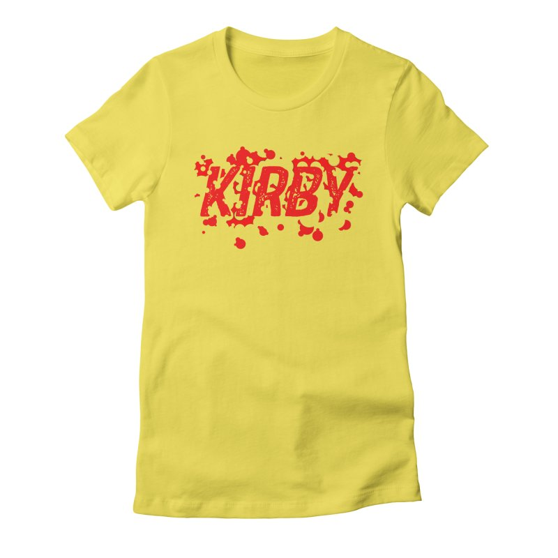 Kirby! Women's Fitted T-Shirt by Chris Williams' Artist Shop