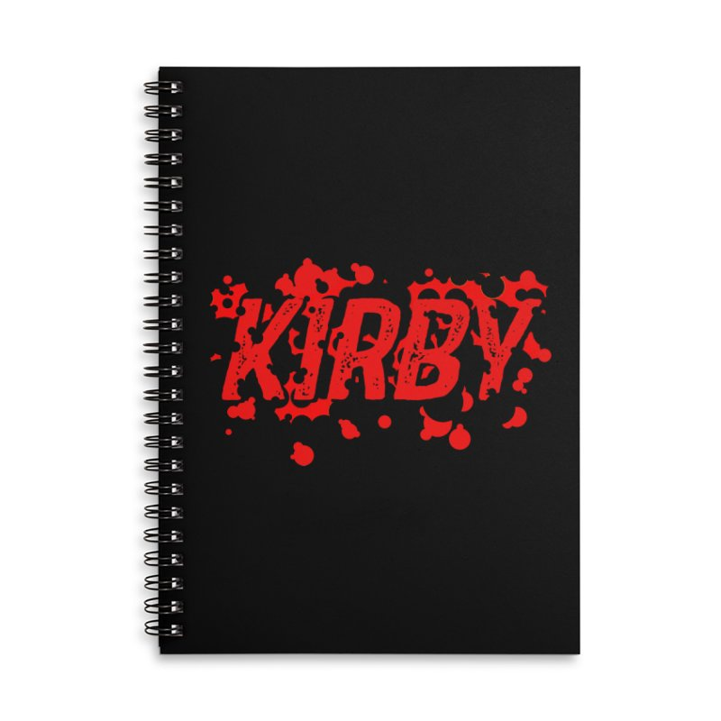 Kirby! Accessories Lined Spiral Notebook by Chris Williams' Artist Shop