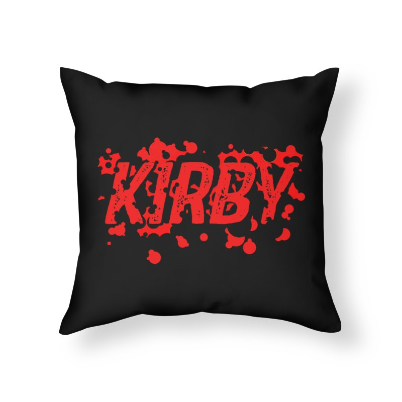 Kirby! Home Throw Pillow by Chris Williams' Artist Shop