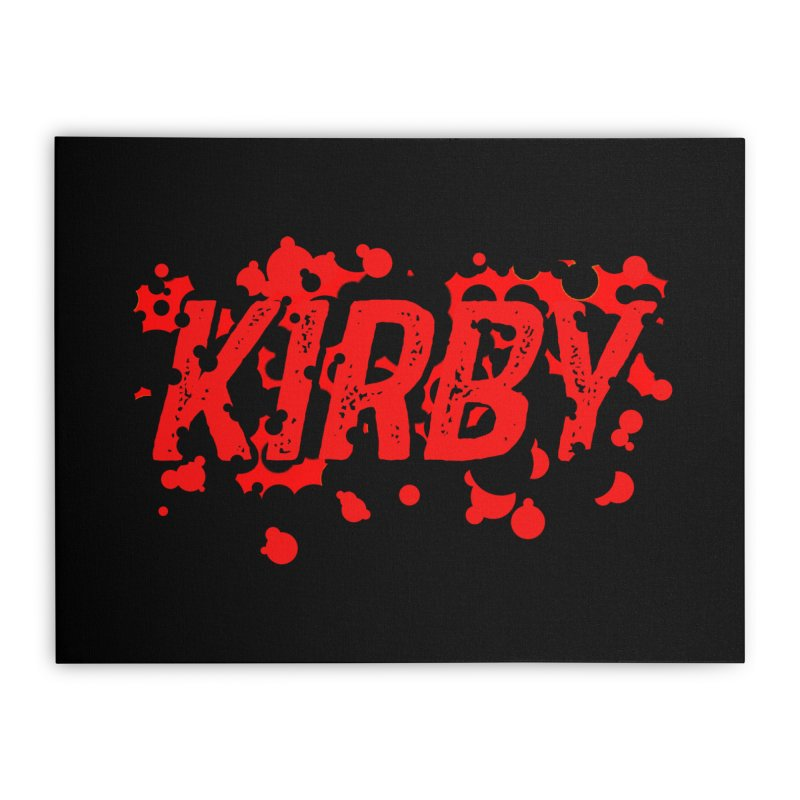 Kirby! Home Stretched Canvas by Chris Williams' Artist Shop