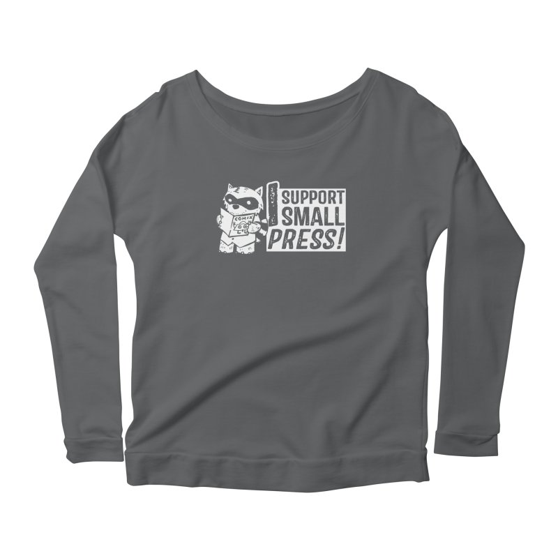 I Support Small Press! Women's Scoop Neck Longsleeve T-Shirt by Chris Williams' Artist Shop