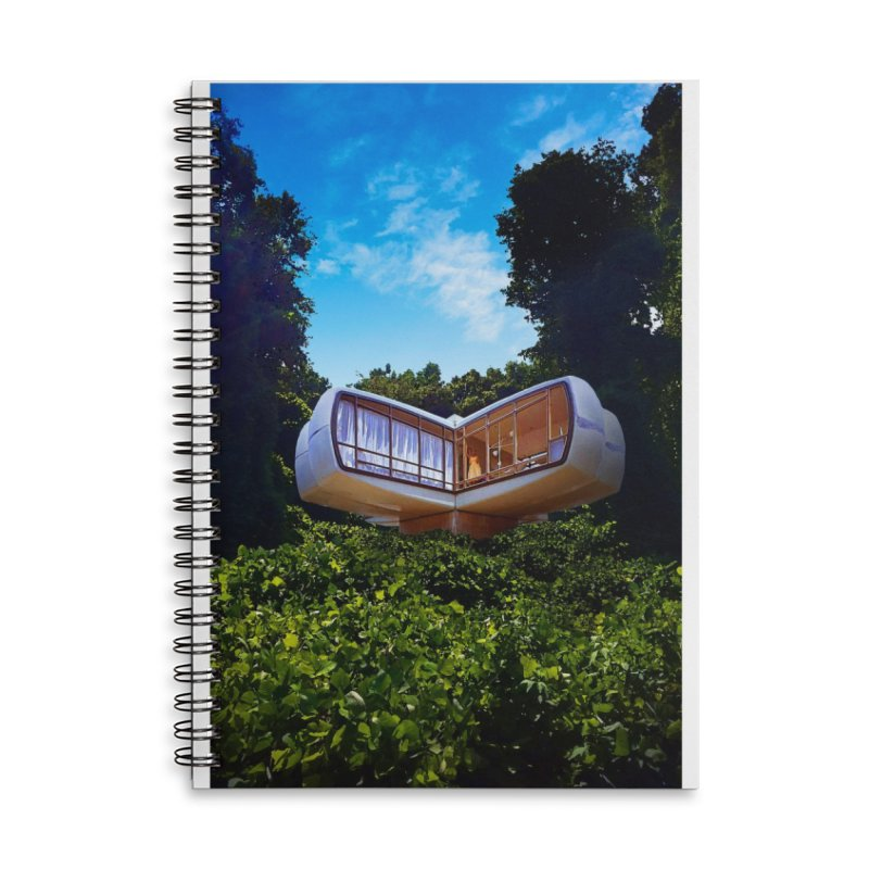 The House of the Future Accessories Lined Spiral Notebook by Chris Williams' Artist Shop