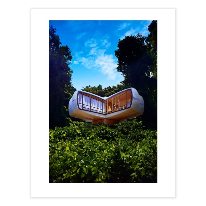 The House of the Future Home Fine Art Print by Chris Williams' Artist Shop