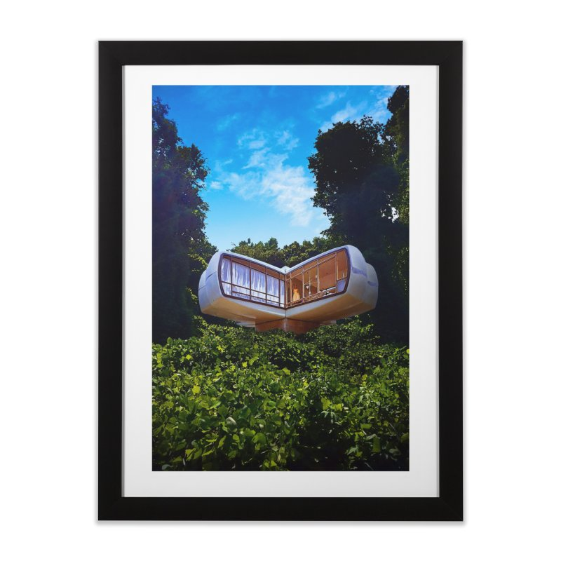 The House of the Future Home Framed Fine Art Print by Chris Williams' Artist Shop
