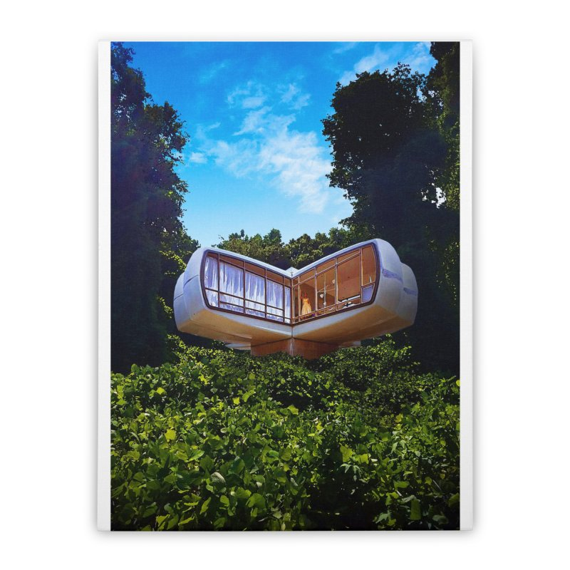The House of the Future Home Stretched Canvas by Chris Williams' Artist Shop