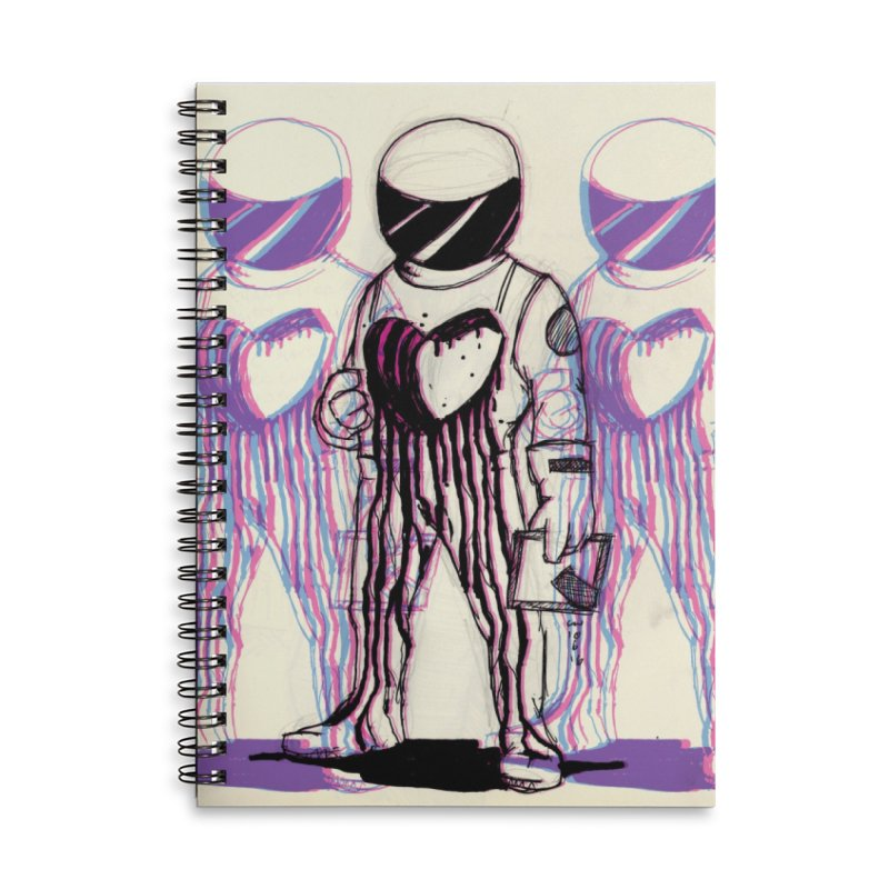 Lost Love Accessories Lined Spiral Notebook by Chris Williams' Artist Shop