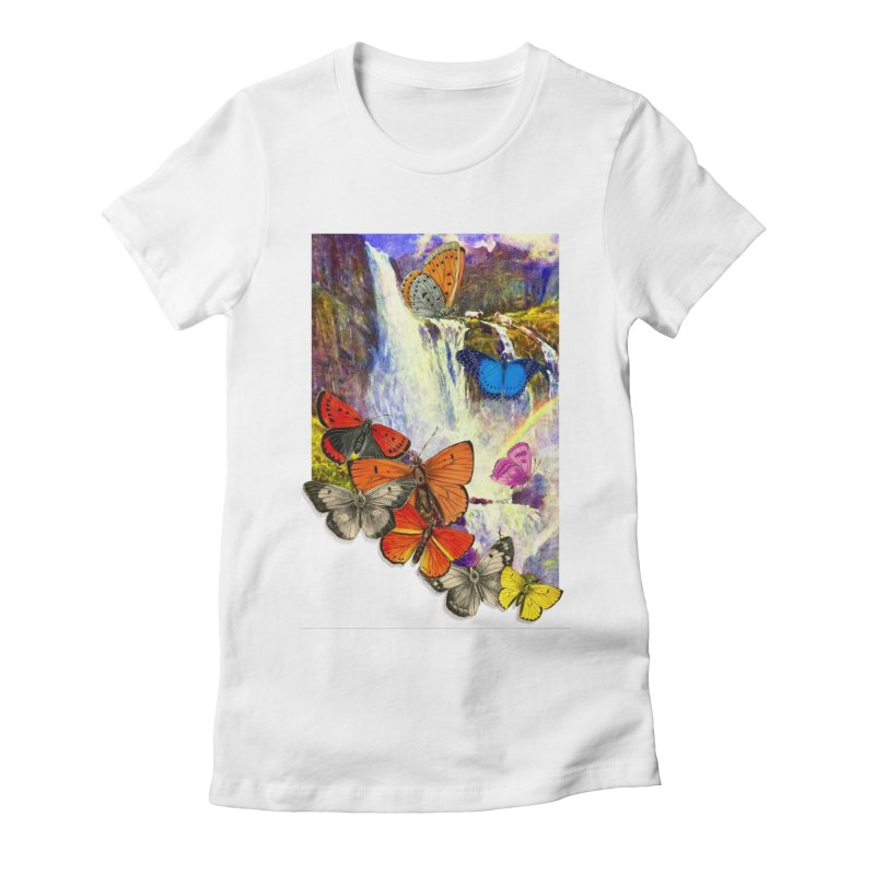 Summer Vacation Women's Fitted T-Shirt by Chris Williams' Artist Shop