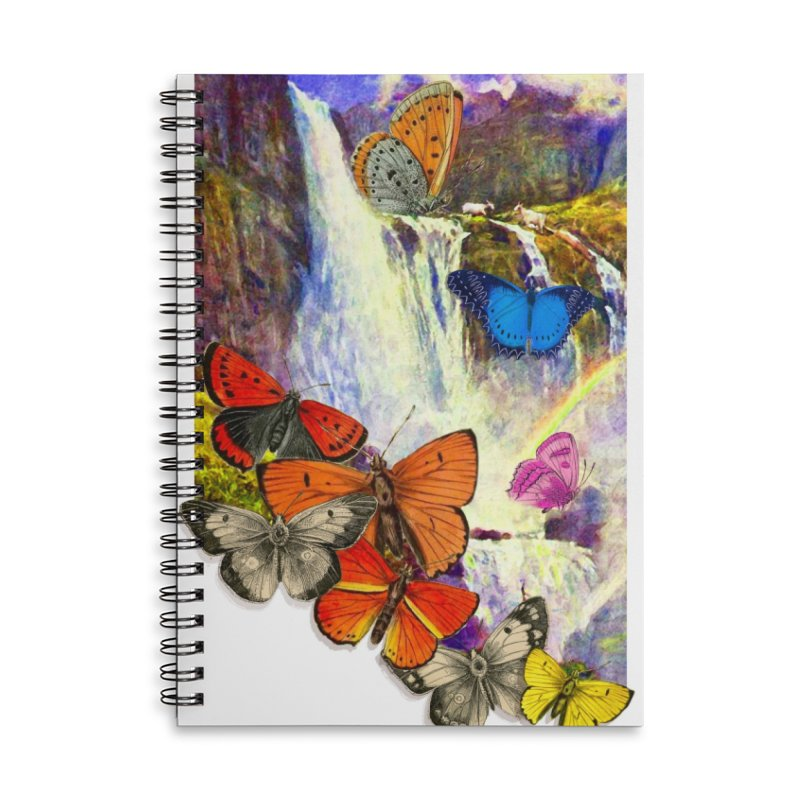 Summer Vacation Accessories Lined Spiral Notebook by Chris Williams' Artist Shop