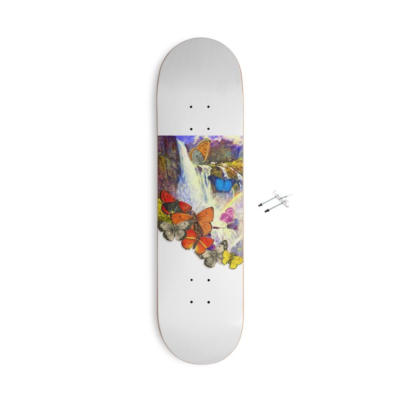 Summer Vacation Accessories With Hanging Hardware Skateboard by Chris Williams' Artist Shop