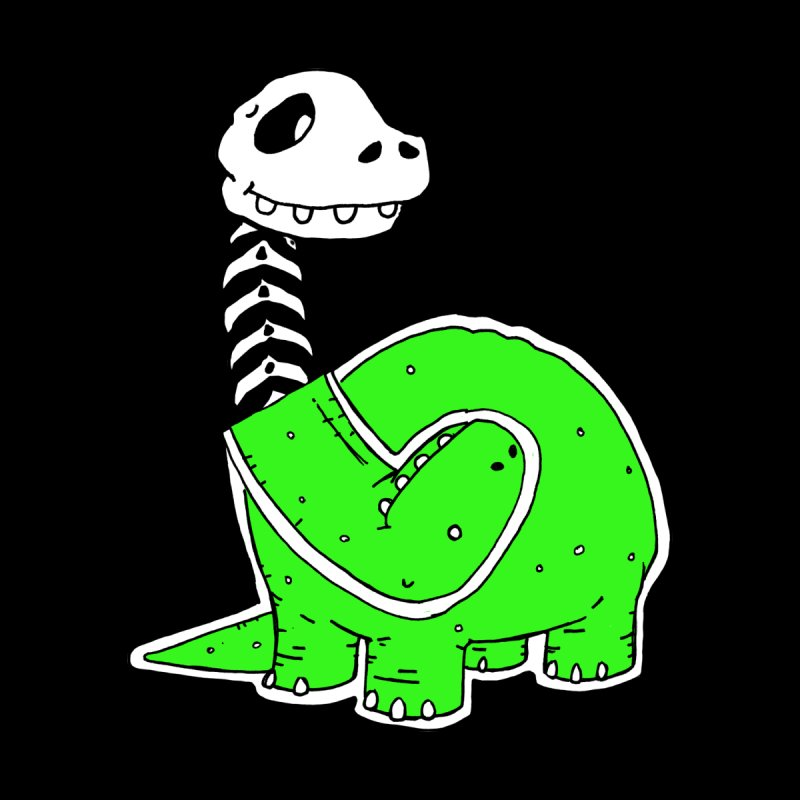 Cropped Dino Kids Baby Zip-Up Hoody by Chris Williams' Artist Shop