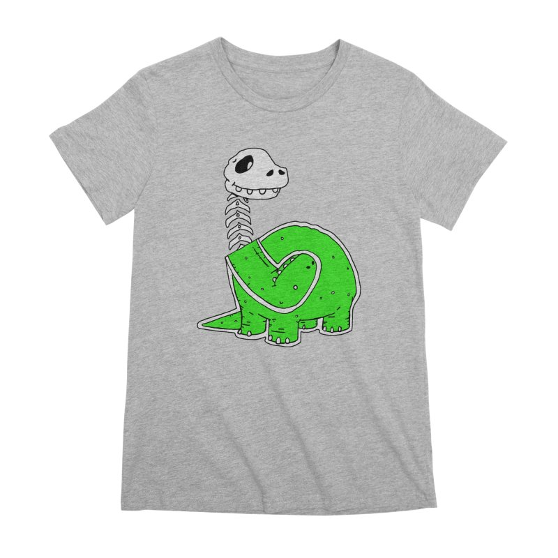 Cropped Dino Women's Premium T-Shirt by Chris Williams' Artist Shop