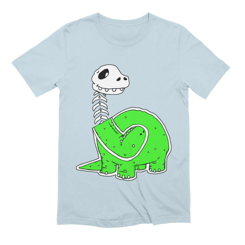 Cropped Dino Men's Extra Soft T-Shirt by Chris Williams' Artist Shop