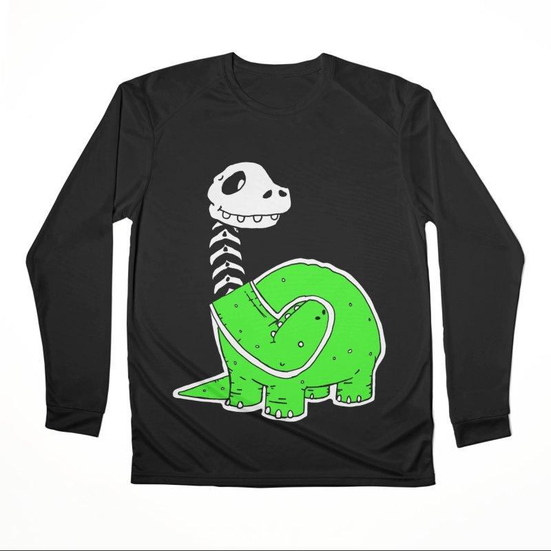 Cropped Dino Women's Performance Unisex Longsleeve T-Shirt by Chris Williams' Artist Shop