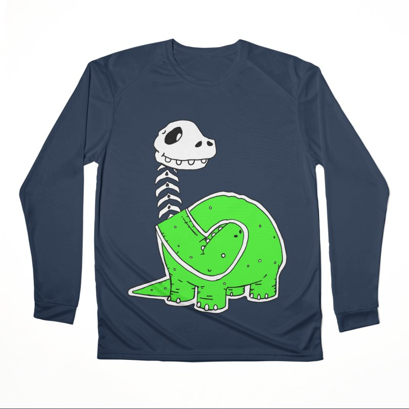 Cropped Dino Women's Performance Unisex Longsleeve T-Shirt by Chris Williams' Artist Shop