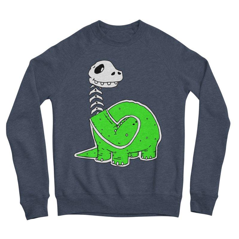 Cropped Dino Women's Sponge Fleece Sweatshirt by Chris Williams' Artist Shop