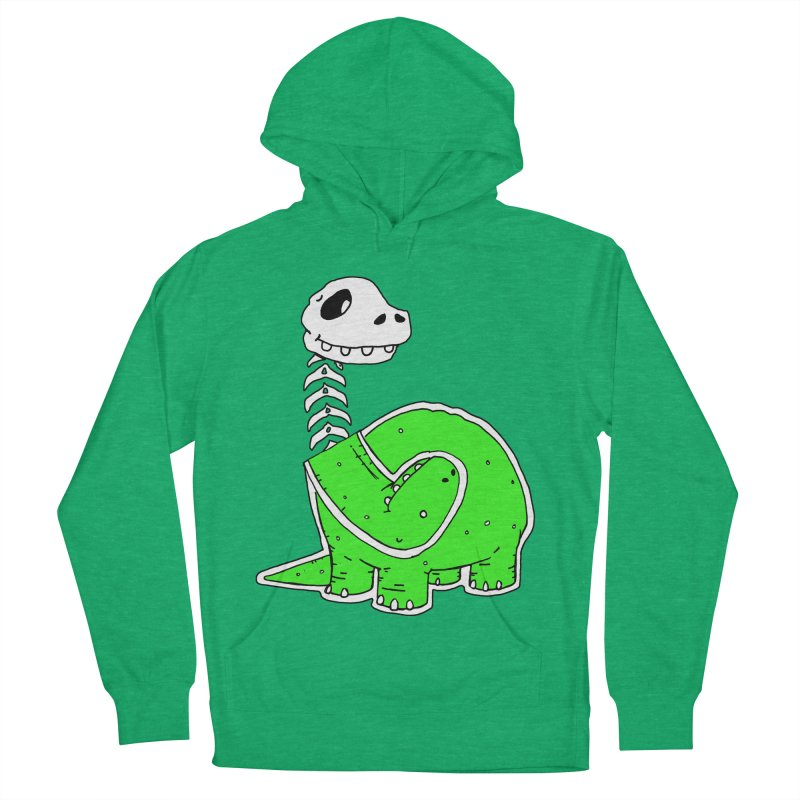 Cropped Dino Women's French Terry Pullover Hoody by Chris Williams' Artist Shop