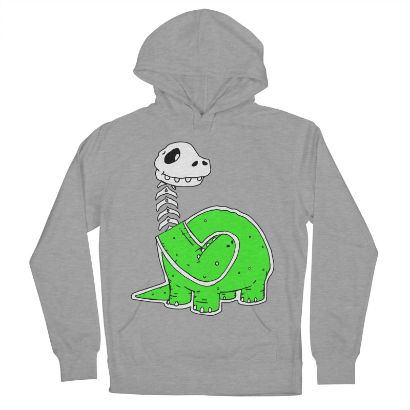 Cropped Dino Women's Pullover Hoody by Chris Williams' Artist Shop