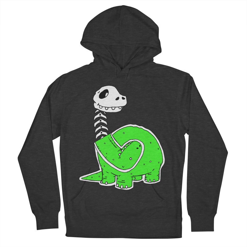Cropped Dino Men's French Terry Pullover Hoody by Chris Williams' Artist Shop