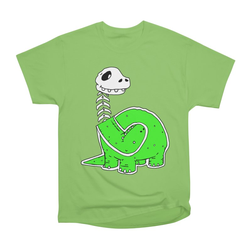 Cropped Dino Men's Heavyweight T-Shirt by Chris Williams' Artist Shop