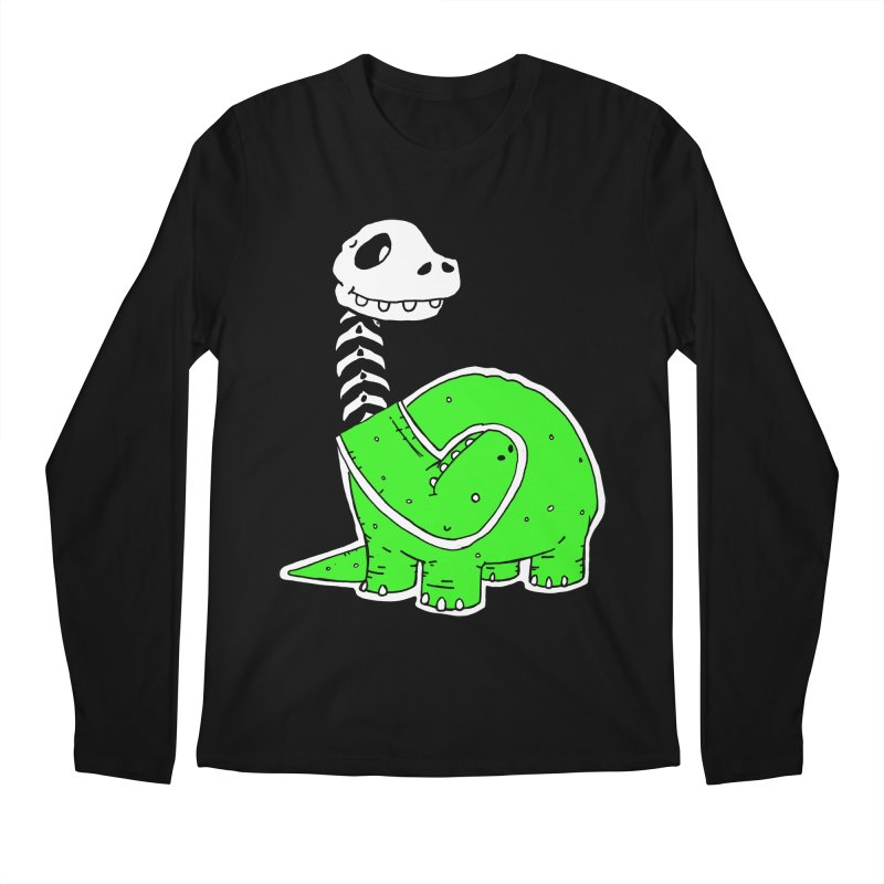 Cropped Dino Men's Regular Longsleeve T-Shirt by Chris Williams' Artist Shop