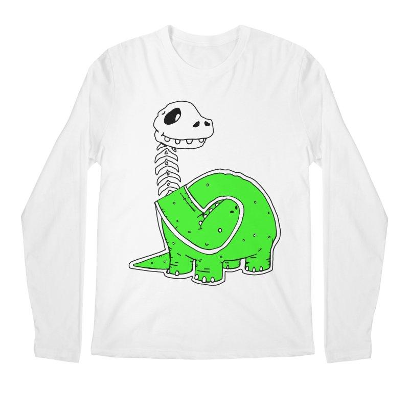 Cropped Dino Men's Regular Longsleeve T-Shirt by Chris Williams' Artist Shop