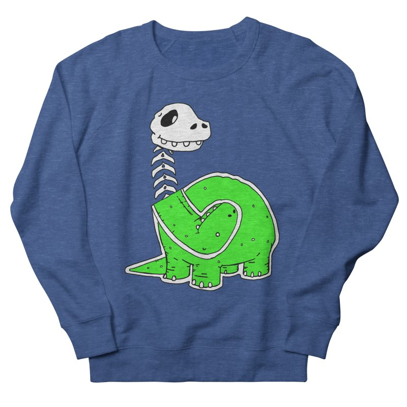Cropped Dino Women's French Terry Sweatshirt by Chris Williams' Artist Shop