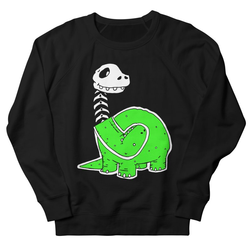 Cropped Dino Men's French Terry Sweatshirt by Chris Williams' Artist Shop
