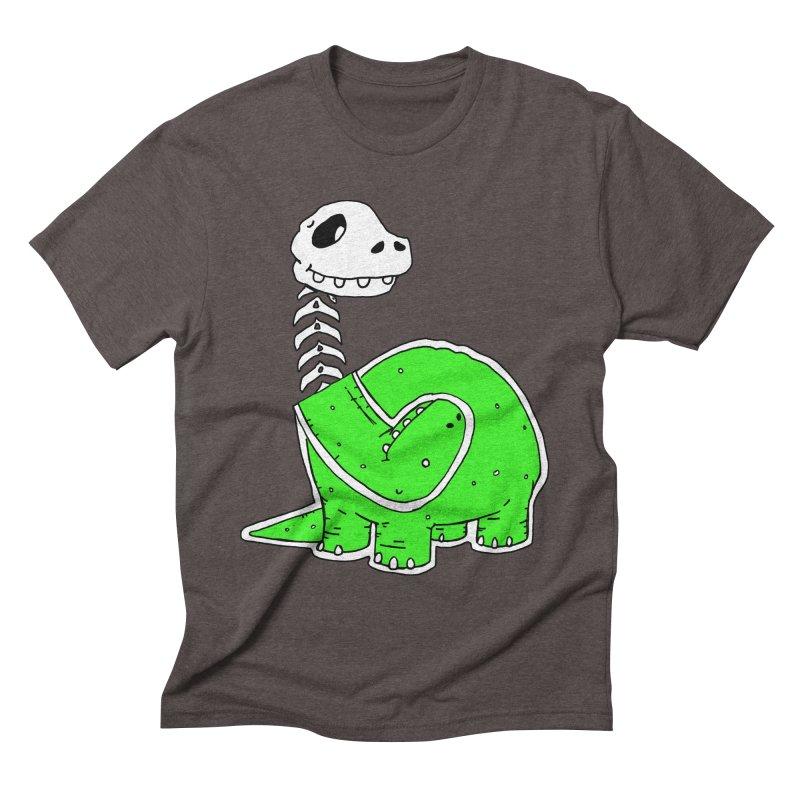 Cropped Dino Men's Triblend T-Shirt by Chris Williams' Artist Shop