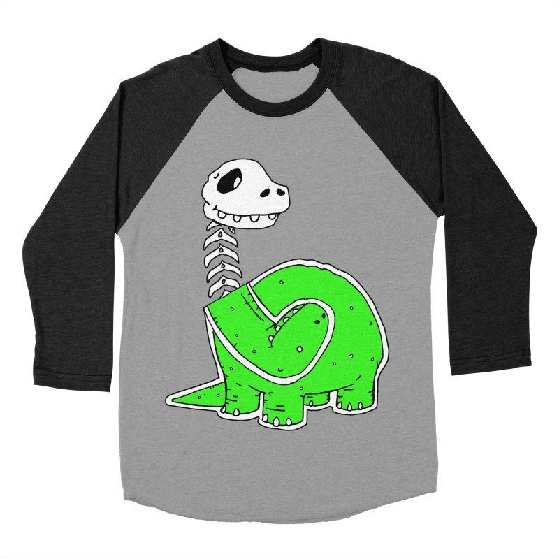 Cropped Dino Women's Baseball Triblend Longsleeve T-Shirt by Chris Williams' Artist Shop