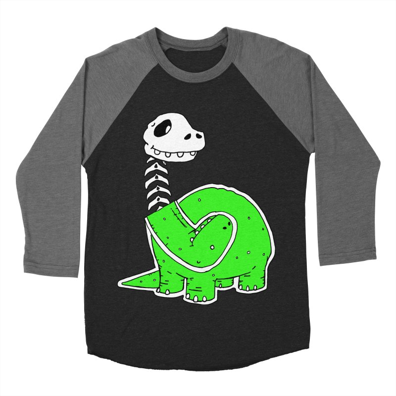 Cropped Dino Men's Baseball Triblend Longsleeve T-Shirt by Chris Williams' Artist Shop