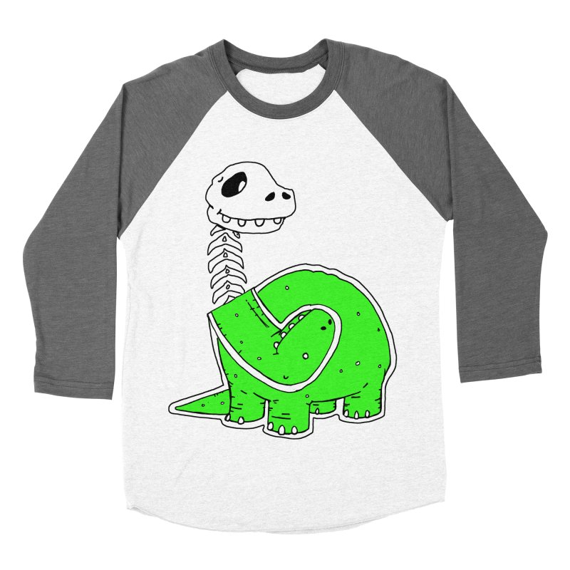 Cropped Dino Men's Baseball Triblend Longsleeve T-Shirt by Chris Williams' Artist Shop