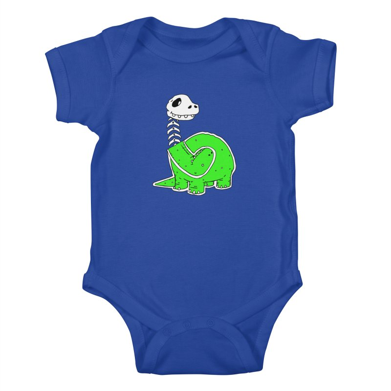 Cropped Dino Kids Baby Bodysuit by Chris Williams' Artist Shop