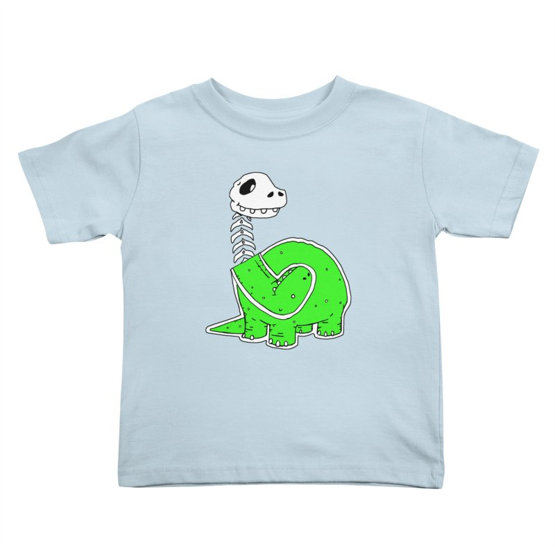 Cropped Dino Kids Toddler T-Shirt by Chris Williams' Artist Shop
